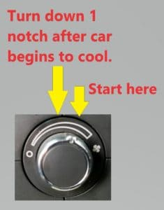 vehicle ac fan controls